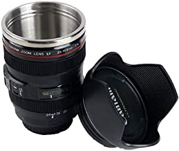 DSLR 24-105mm Camera Lens Cup Stainless Steel Coffee Tea Mug 400ml Novelty Gift