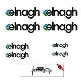 Sticker Mimo Adhesivos compatibles con ELNAGH Kit de 1 color, accesorios para caravanas, autocaravanas, autocaravanas y camping (dos colores)