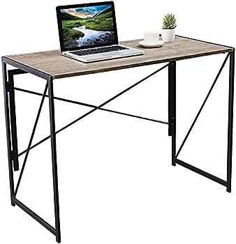 Samdray  Easy-Assemble Portable Folding Office Computer Desk