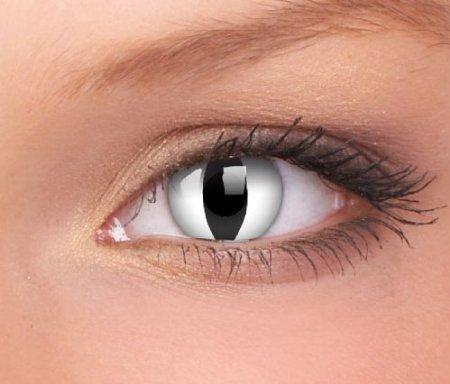 Farbige Kontaktlinsen Weißes Katzenauge