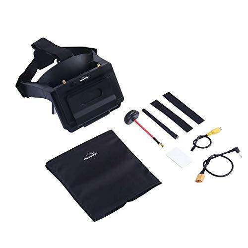 DishyKooker Ferngesteuerte Luftfahrzeuge Drohnen Hawkeye FPV Brille Kopf tragen AR Brille w/Little Pilot 5 Zoll FPV Monitor Empfänger für Myopie eingebauter Refraktor für RC Drone