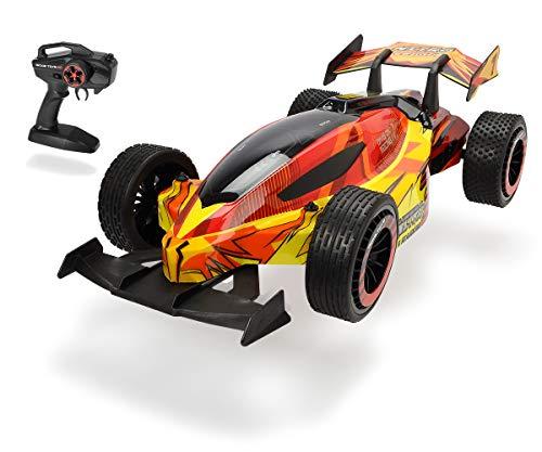 Dickie Toys RC Nitro League mit Fernsteuerung, RC Auto, ferngesteuertes Fahrzeug mit Turbofunktion, Gun Controller, 15 km/h, 46 cm, inkl. Batterien