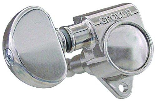 Grover Original Rotomatics 102 Series - Clavijas para guitarra (3+3, níquel cromado)
