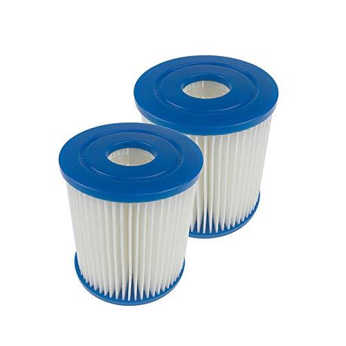 FreeLeben Pack De 2 Cartuchos De Filtro para Piscina, Accesorios De Filtro De Limpieza De Piscina Inflable De Repuesto para SPA, Cartucho De Filtro Antimicrobiano para Bañera De Fácil Instalación