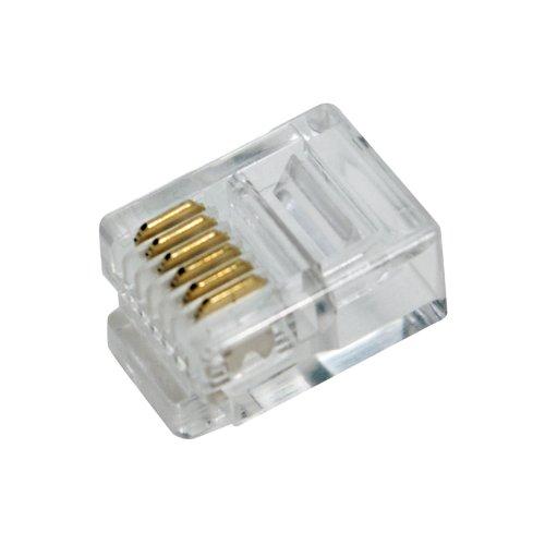 LogiLink Professional MP0019 RJ12 Stecker für Flachbandkabel