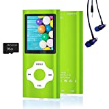 MP3 Player / MP4 Player, Hotechs MP3 Music Player with 16GB Memory SD Card Slim Classic Digital LCD 1.82'' Screen Mini USB Port with FM Radio, Voice Record (Green)