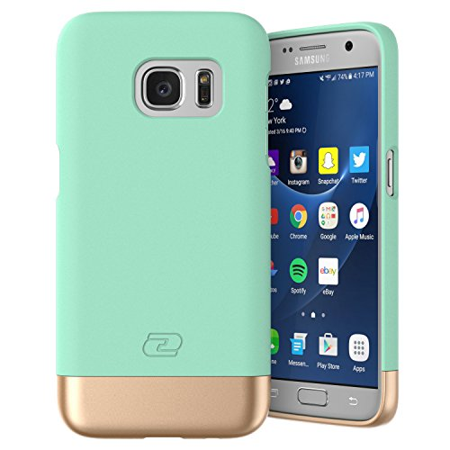Samsung Galaxy S7 Case, Encased Ultra-thin SlimSHIELD Hybrid Shell4 Cool Colors Available) (Mint Green)