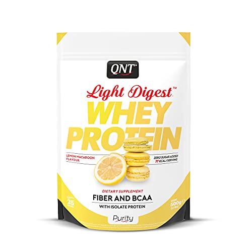QNT Proteine del Siero di Latte con Fibre, Bcaa e Whey Isolate Gusto Meringa al Limone - 0.5 kg