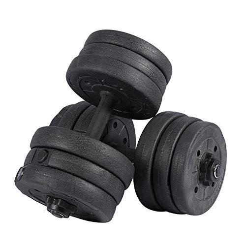YCS 20KG/44LBS Set manubri Regolabili, Manubri Palestra Regolabili Gym Set per Home Gym Fitness, Sollevamento Pesi, Allenamento della Forza e Body Building