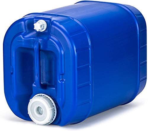 Emergency Water Storage 5 Gallon Water Tank - BPA-Free, Food Grade, Portable, Stackable, Easy Fill - Survival Supply Water Container