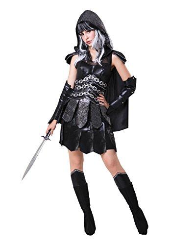 Bristol Novelty af077Dark Warrior Lady, Damen, Schwarz, One size