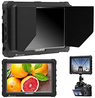 "LILLIPUT A7S 7"" 1920x1200 IPS Screen Camera Field Monitor 4K 1.4 HDMI Input output Video with Black Rubber Case Best Field..."