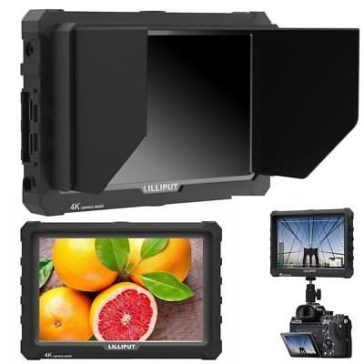 "LILLIPUT A7S 7"" 1920x1200 IPS Screen Camera Field Monitor 4K 1.4 HDMI Input output Video with Black Rubber Case Best Field Monitor buy from VIVITEQ (LILLIPUT USA OFFICIAL SELLER for full warranty)"