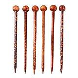 Lurrose 6pcs pelo palillos de madera accesorios de la joyería de la vendimia palillos horquilla tocado UPDO hacer accesorio