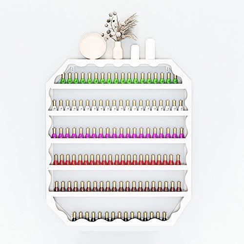 home renovation Nagellack-Rack, Wand-Metall-Nagellack-Aufbewahrungsregal, Make-up-Lippenstift-Rack Für Ätherisches Öl, 6-lagiges Regal-Display-Rack