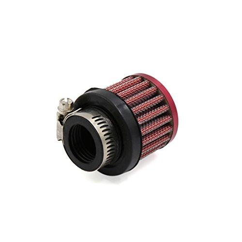 sourcingmap 26mm diamètre entrée filtre admission Air Cleaner Pince réglable rouge pour Motorcycle