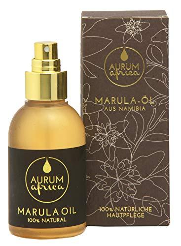 AURUM AFRICA - Marula Öl 50ml - Bio zertifiziert & kaltgepresst - Nr. 1 Naturkosmetik aus Afrika für Gesicht, Körper & Haare - 4in1 Öl - Haaröl, Gesichtsöl, Körperöl & Massageöl - Vegan