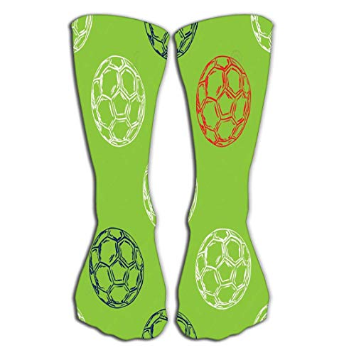 SDFGSE High Socks Novelty Compression Long Socks for Women and Girls France Football Championship Concept Pattern Euro