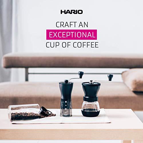 Hario Ceramic Coffee Mill, Mini Slim, Plus, Black