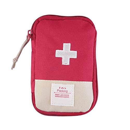ArtMed Mini Outdoor First Aid Kit Empty Bag for Outdoor Travel Office Home First Aid Kit Hiking Camping Emergency Kit Best Survival Medical Organizer (Red)