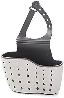 Alician Adjustable Kitchen Storage Rack Drain Basket for Sink Faucet Hanging Beige