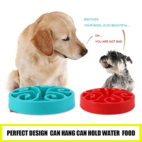 LoveOlvidoD Hundenapf,Pet Bowl,Dog Bowl,Gesunde Nahrungsmittelschüssel-langsame Essen Anti-Würgen Anti Choke Dog Cat Pets Feeder Bowl