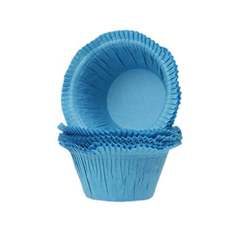 House of Marie Paper-Media Lot de 250 caissettes à Muffins Bleu