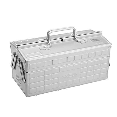 GGYMEI Maleta vintage, Multifunción portátil de gran capacidad Adecuado for almacenar joyas y herramientas de reparación Planchar, 3 colores ( Color : Silver , Size :...