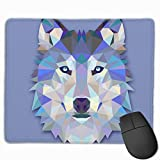 Cute Large Mouse Pad with Animal Design Triangle Wolf Design for Computer Office Gaming,11.8x9.8x0.09 Inch