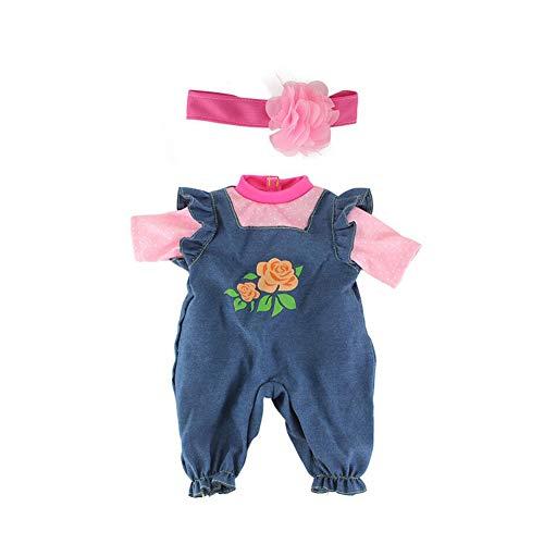 1set Baby Doll Tuch Kreative Baby Doll-Kleid-Kleidung-Baby-Puppe Kleid Outfits Puppe Hübsche Puppe Tuch Fertigkeit Handgemachte Kostüme Kinder (17 Inch)