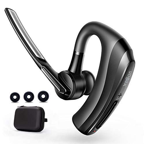 Bluetooth Headset, Vogek Bluetooth Earpiece 16 Hours Talktime with CVC8.0 Noise Cancelling Mic Mute Key Hands-Free Earphones for Cell Phones PC Laptop Business Truck Driver Office Call Center Skype
