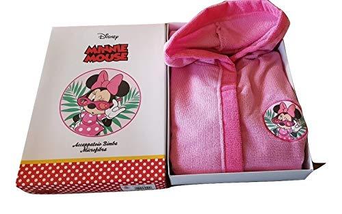 Hermet - Albornoz para niña de Mickey Mouse, de microfibra, color rosa, tallas rosa Rosa 7-8 anni
