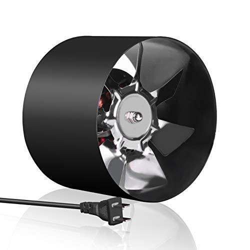 Beleeb 4 Inch Inline Duct Fan 76 CFM 110V 12W, HVAC Exhaust Vent for Bathroom Basement Greenhouse Attic Kitchen, Low Noise