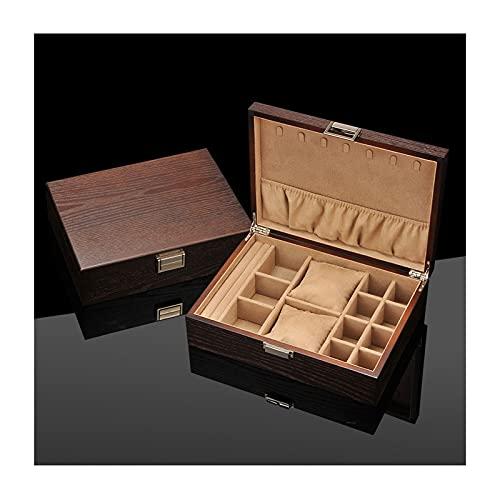 Chenhan Joyería Caja de Almacenamiento Caja de joyería de Madera para Mujeres Cajas de joyería Mostrar Caja de Almacenamiento con 7 Collares Ganchos Joyería para niñas Colgador de Joyas (Color : C)