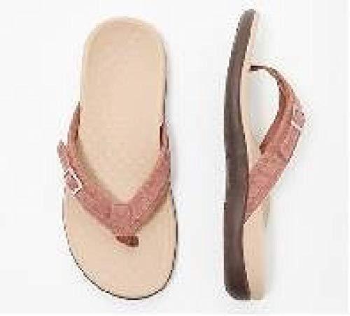 MedusaABCZeus Sandale Chaussures été Confortable Plage,Femme de Grande Taille antidérapante à Fond Plat, Chaussures de Plage de Massage résistantes à l'usure-Rouge Brique_38,Tongs Homme