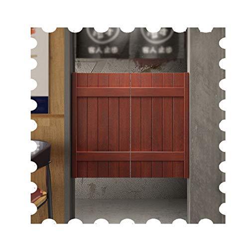 JIANFEI Cafe Puertas Contrapuertas, con 4 Bisagras/2 Postes De Puerta, Madera Maciza Bar Dividir, Interior Habitación Decoración Puerta De La Cerca, Automático Apagar (Color : White, Size : 105x70cm)