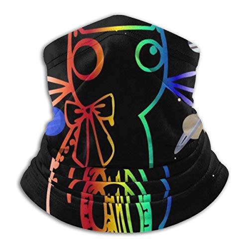 Universum Katze Galaxie Himmlischer Kosmos Gesicht Schal Hälfte Für Staub Wind UV Sonnenschutz Nahtloses 3D Bandana Für Männer Frauen Hals Gamasche Motorrad Reiten Biker Angeln Radfahren Sport