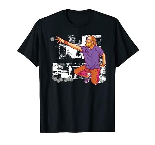 Hombre Un jugador de petanca lanza una pelota de petanca para hacer Camiseta