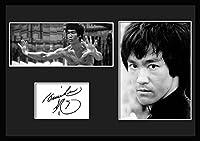 10種類! ブルース・リー/Bruce Lee /サインプリント&証明書付きフレーム/BW/モノクロ/ディスプレイ/3W (05) [並行輸入品]