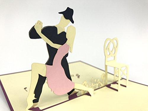 Tanzendes Paar Wettkampf 3D Pop Up Karte Musik Noten Grußkarte Geburtstagskarte Grußkarte Glückwunschkarte Glückwunschkarte Glückwunschkarte Glückwunschkarte Du bist die Besten