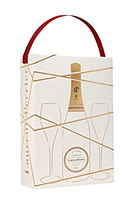 Laurent Perrier La Cuvee Brut Non Vintage Champagne with Two Glasses Gift Pack, 75 cl