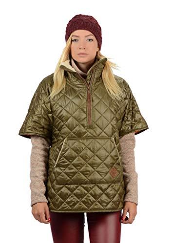 Stayer Thermo-jas voor dames, thermomantel, korte mouwen, vest, vrije tijd, winter, anorak, oversized, kaki groen
