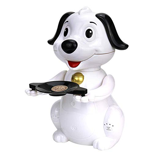 Stealing Coin Bank Money Box Cute Luck Puppy Bank (White)
