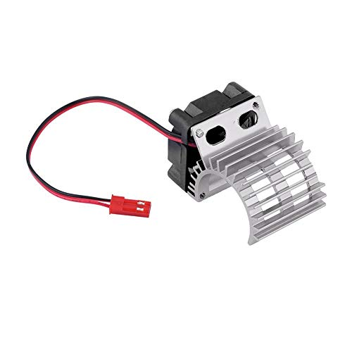 Tbest RC-koellichaam, elektrische motorkoellichaam RC-motorkoeler met ventilator voor RC-auto's in schaal 1:10