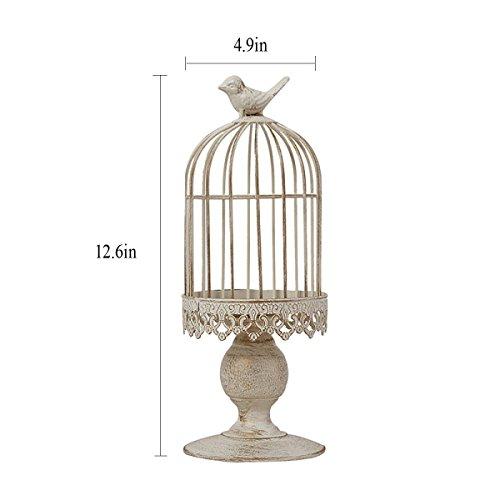 HQQ Fleur Pot Rack Continental Iron Décoration Oiseau Cage Bougie Taiwan Mariage américain Pays Romantique Anniversaire Produits (Taille : S)