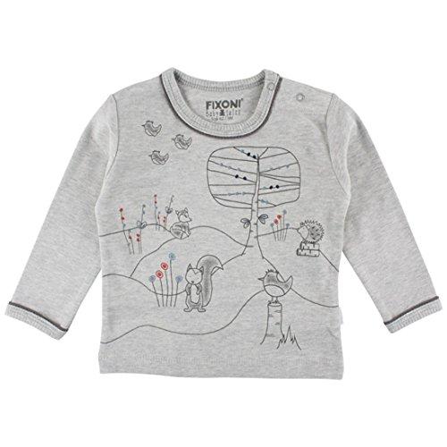 Fixoni T-Shirt à Manches Longues - Babytales 32821 01-82 - Bébé Mixte - 86 (18 Mois) Gris Clair