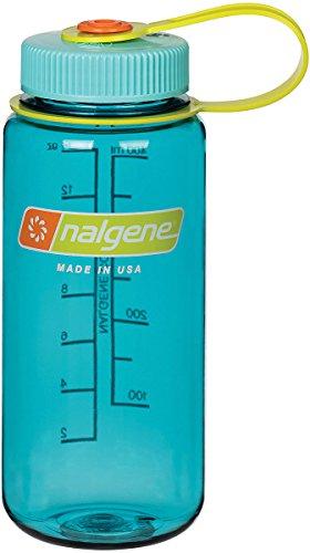 Nalgene Tritan Wide Mouth BPA-Free Water Bottle, Cerulean, 16 oz