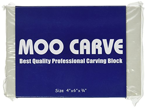MOO Professional Carving Block for Stamp Carving & Printmaking, 4' x 6' x .5'