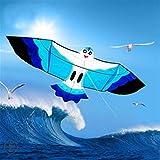 EMRE Fuerte y Robusto Cometa, Cometa de los niños Cometas for los niños Fácil de Volar con Deportes al Aire Libre Gaviota Cometa Esqueleto Duro (Color : Blue)