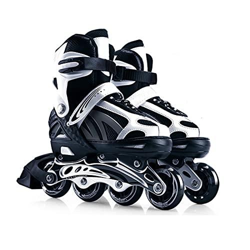 Patines en línea ajustables para mujeres y hombres con ruedas iluminadas, unisex, para adultos, deportes al aire libre, patines en línea, 5 colores, 3 tamaños